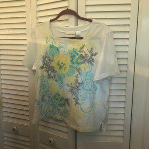 Alfred Dunner women tshirt embellishments M